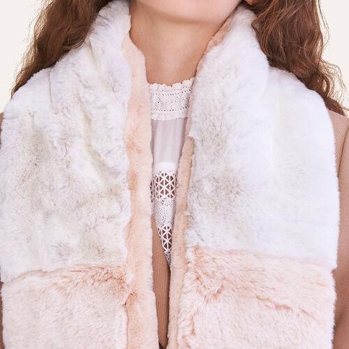 Bufanda de falso pelo bicolor : Accesorios color Bicolor