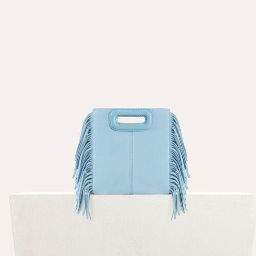 Minibolso M de ante : M Mini color Azul Celeste