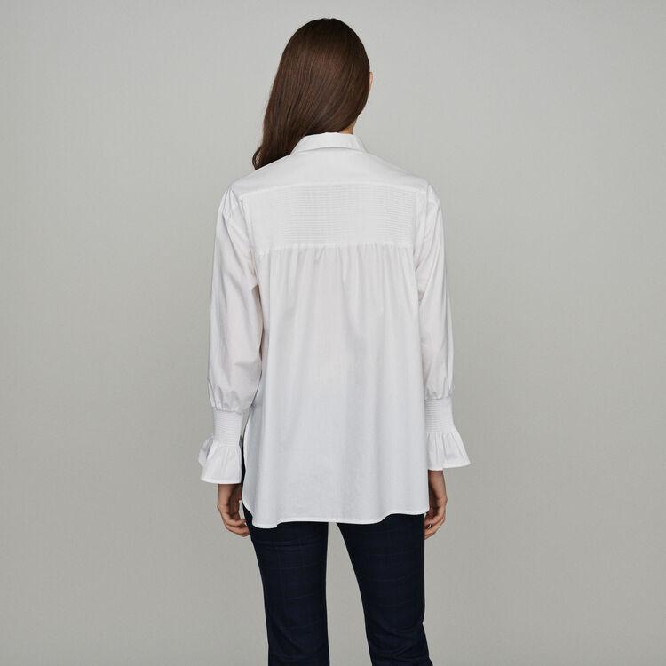 Blusa con estampado floral : Camisas color Blanco