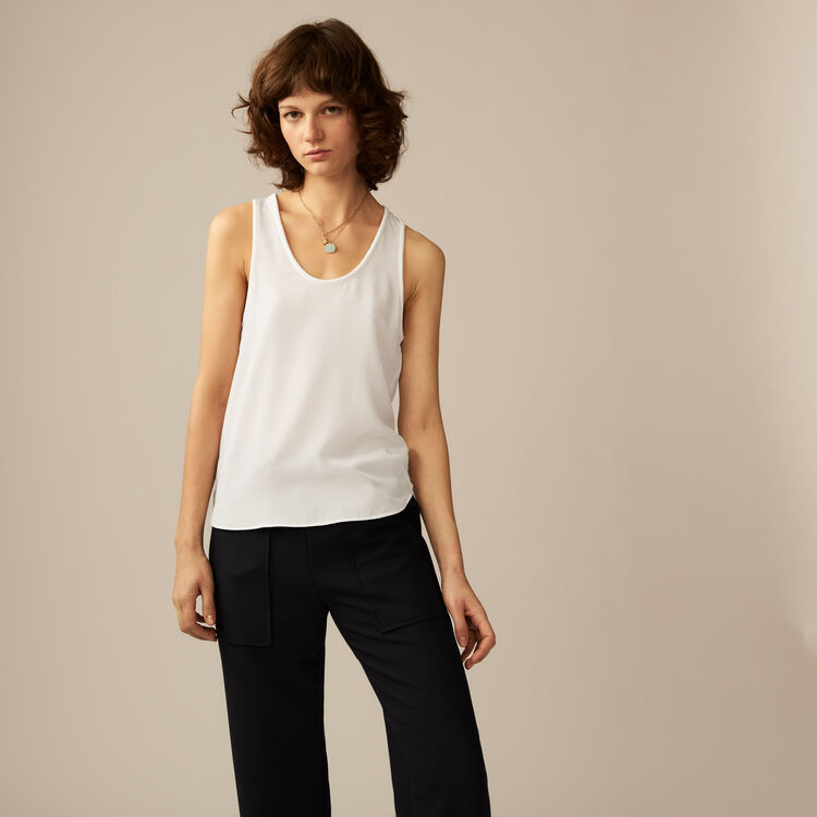 Camiseta tirantes de seda : Tops color ECRU