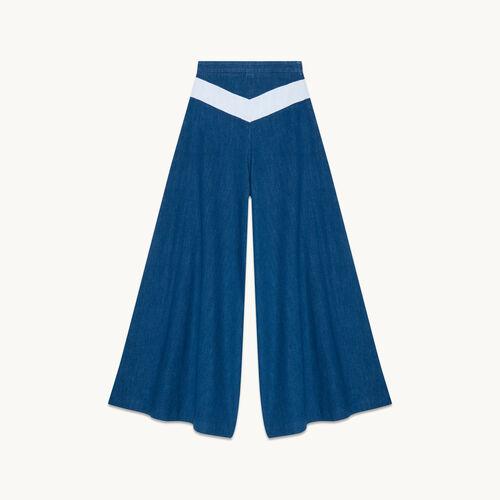 Falda pantalón vaquera - null - MAJE