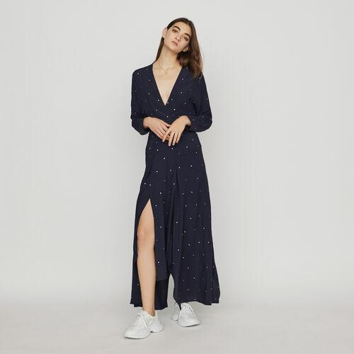 Vestido pañuelo con tachuelas : Vestidos color Azul Marino