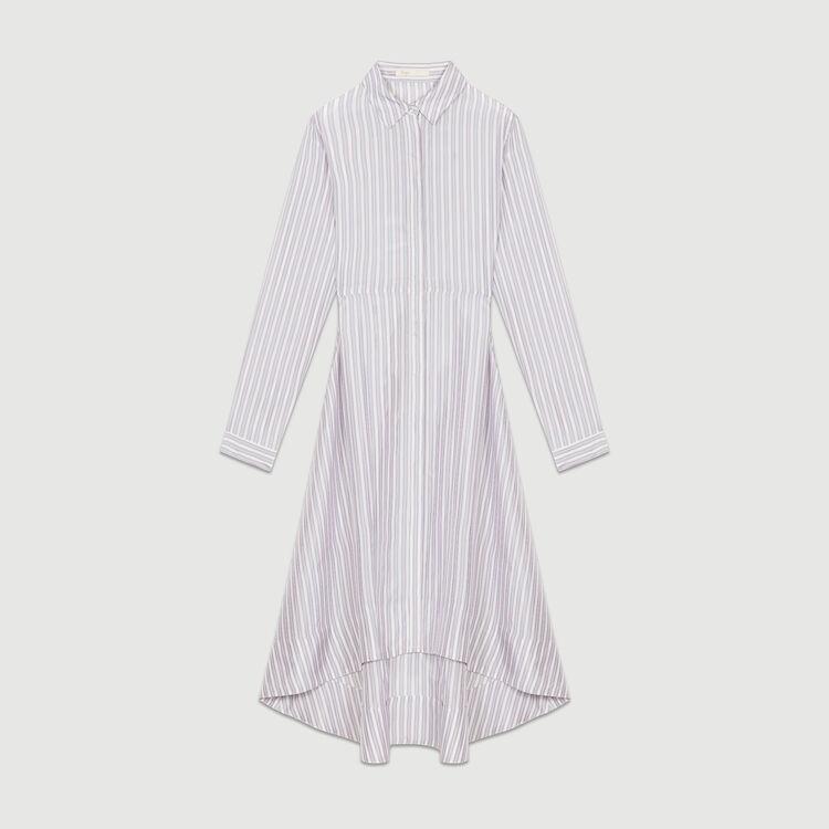 Vestido camisero asimétrico a rayas : Vestidos color Rayas