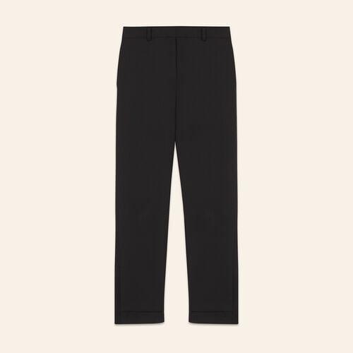 Pantalón de largo 7/8 de crepé : Pantalones y vaqueros color Negro