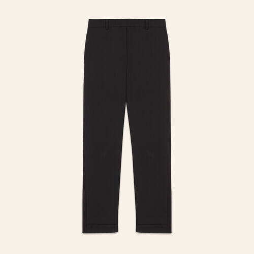 Pantalón de largo 7/8 de crepé : Pantalones color Negro