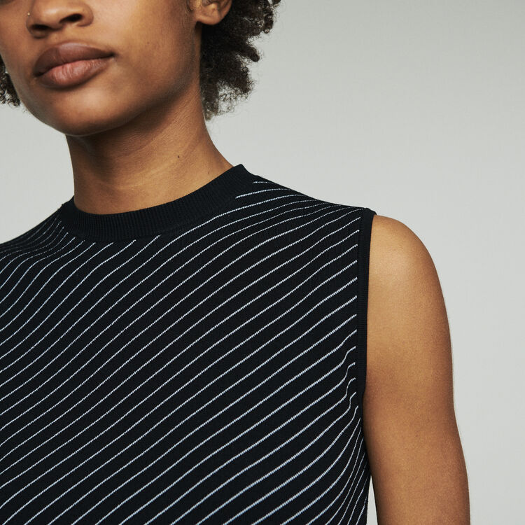 Jersey de rayas sin mangas : Jerseys y cárdigans color Rayas
