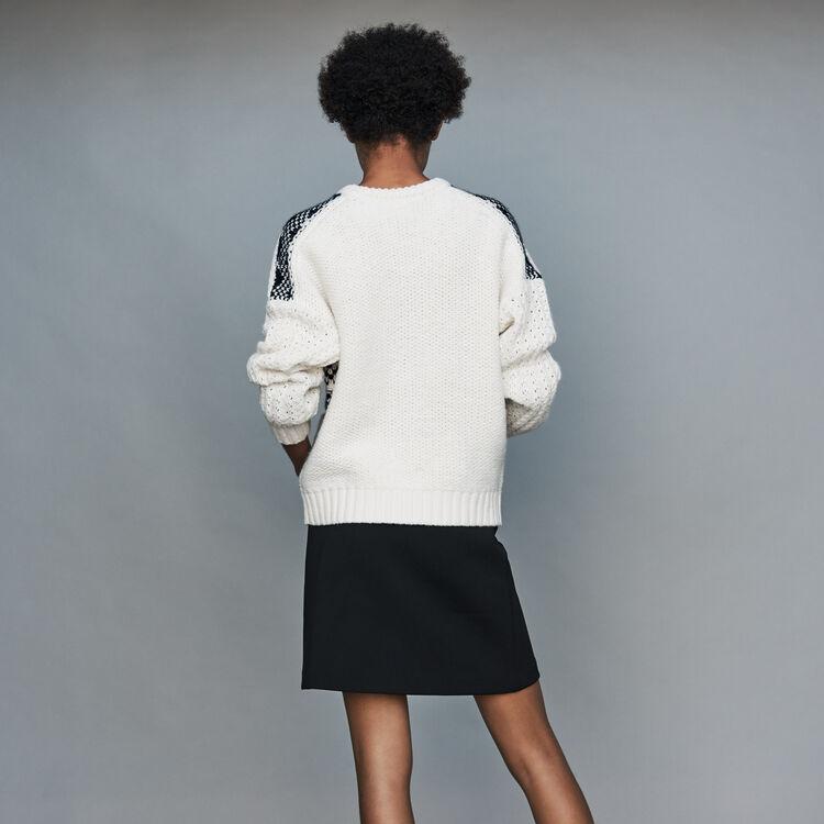 Jersey de punto Jacquard : Prêt-à-porter color ECRU