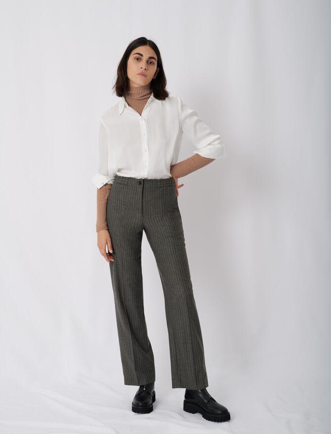 Pantalón recto con rayas estilo tenis - Pantalones y Jeans - MAJE
