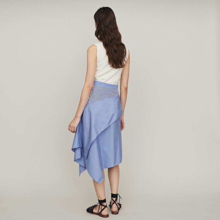 Falda de algodón a rayas : Faldas y shorts color Rayas