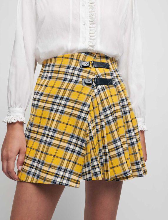 Falda plisada de cuadros estilo kilt - Faldas y shorts - MAJE
