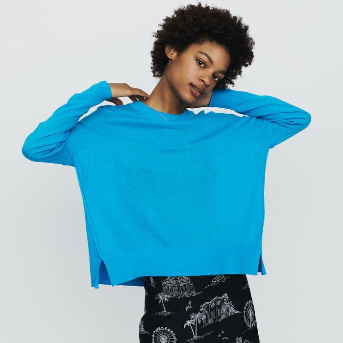 Jersey oversize de cachemira : Jerseys y cárdigans color Azul