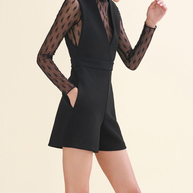 Monoshort de doble género : Faldas y shorts color Negro