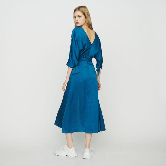 Vestido largo escotado : Vestidos color Azul