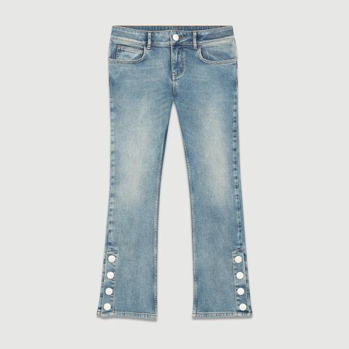 Vaquero 7/8 corte acampanado : Jeans color Denim