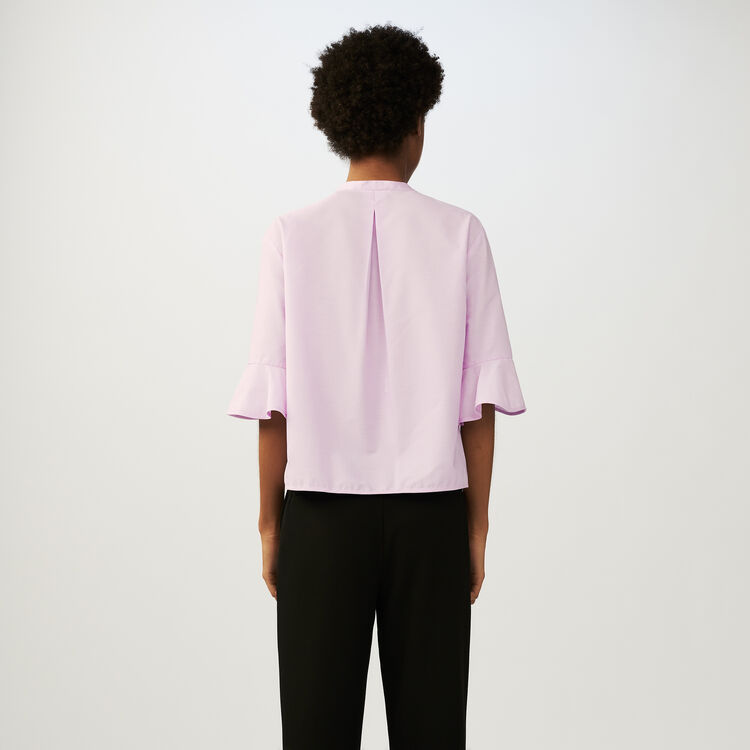 Camisa oversize de popelina : staff private sale color Rosa