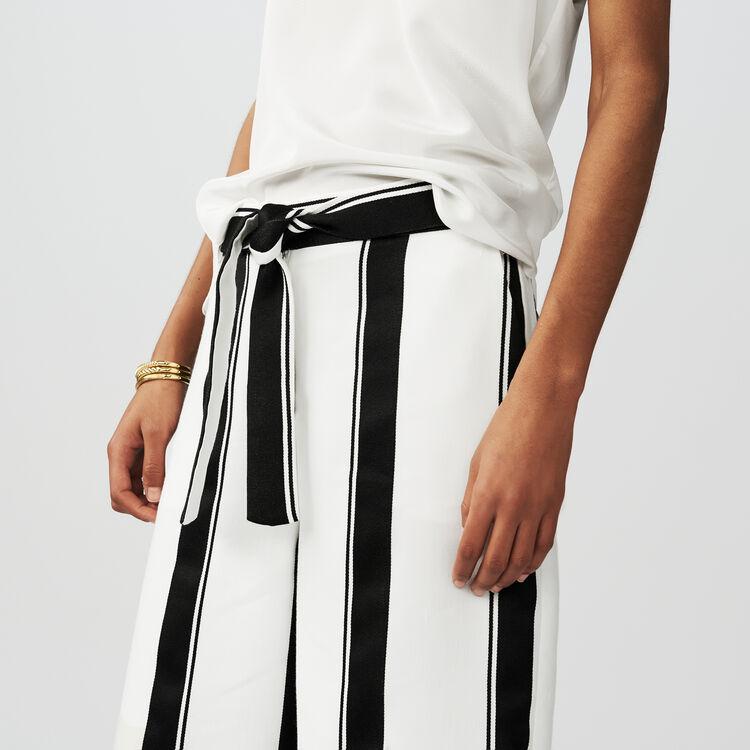 Pantalón ancho de rayas : Pantalones color Rayas