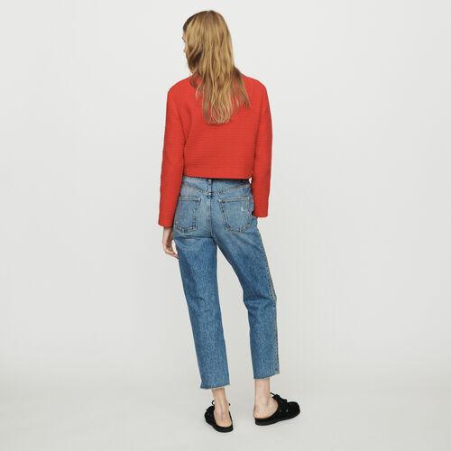 Jean recto con cremallera : Pantalones y Jeans color Denim