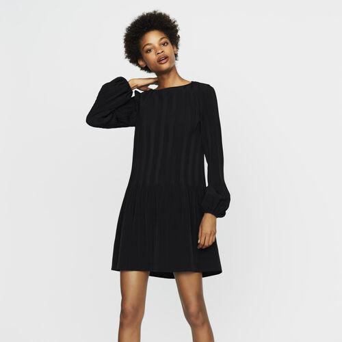 Vestido plisado : Vestidos color Negro