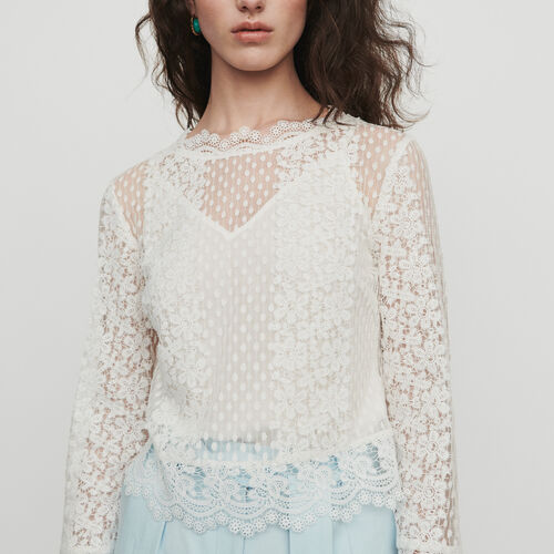 Top de guipur : Tops y Camisas color Blanco