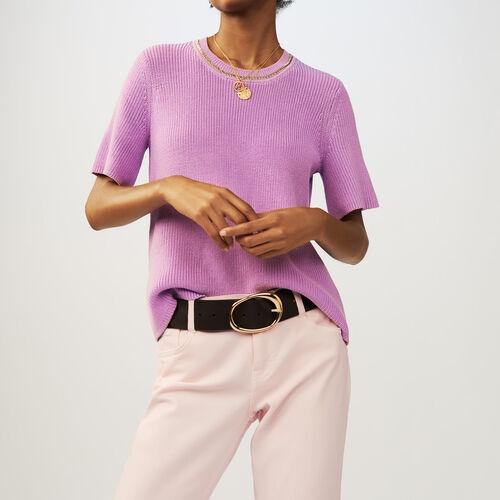Jersey de punto con mangas cortas : staff private sale color LILAS