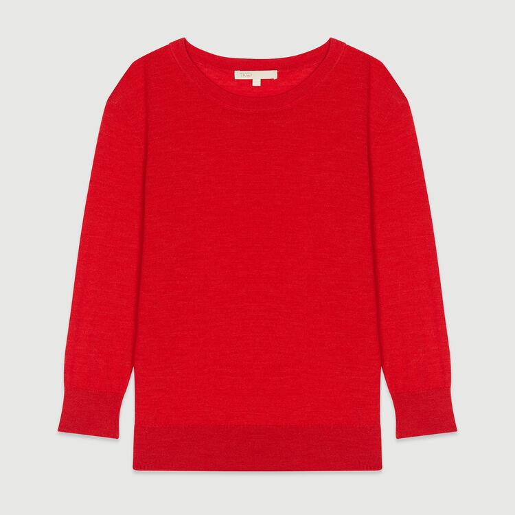 Jersey cuello redondo : Jerseys y cárdigans color Rojo