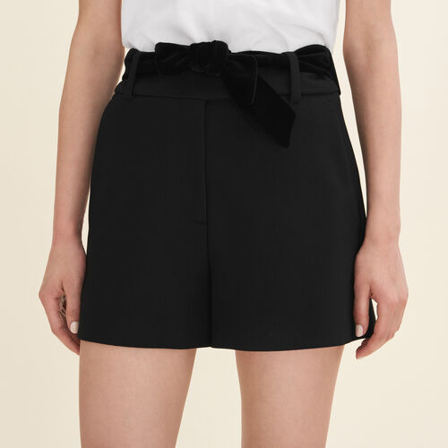 Short de crepé de talle alto - Faldas y shorts - MAJE