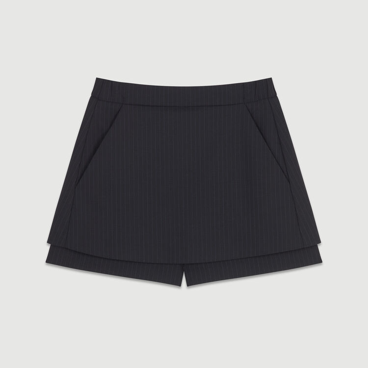 Short-falda de rayas tennis : Faldas y shorts color Rayas