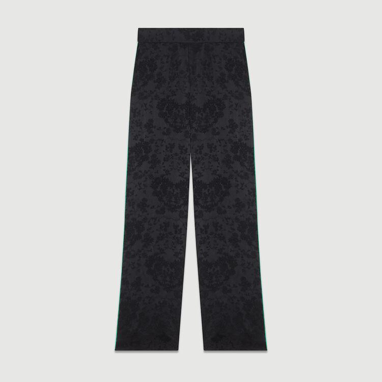 Pantalón loose de Jacquard : Pantalones color Negro