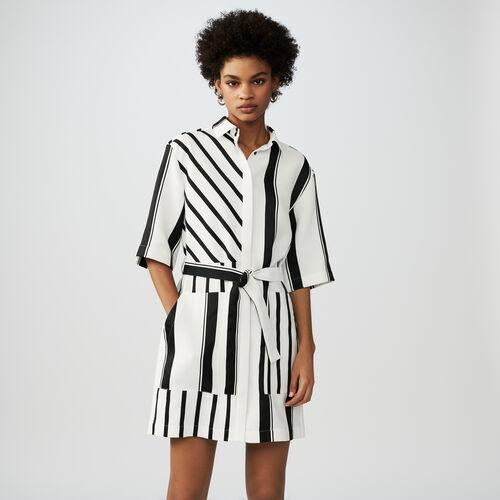 Vestido camisero de rayas : Vestidos color Rayas