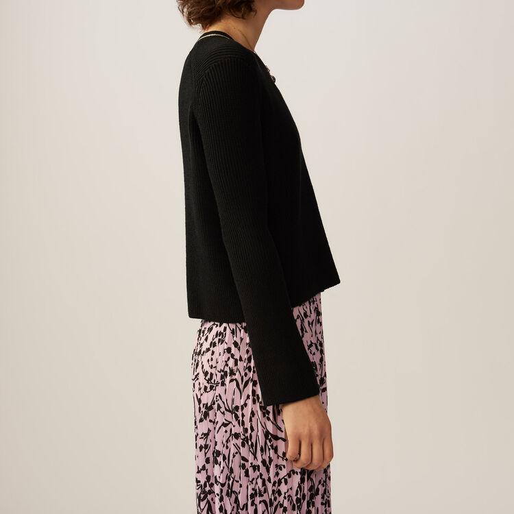Jersey fino en algodon mezclado : Malla color Negro