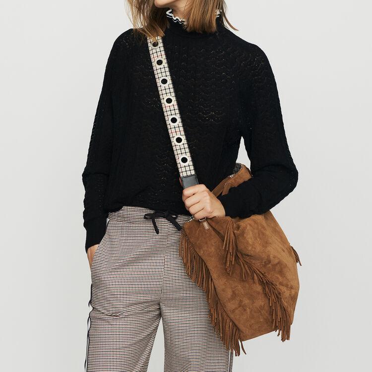 Pantalón con elástico de cuadros : Pantalones color CARREAUX