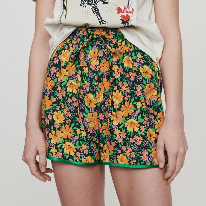Short fluido estampado floral : Faldas y shorts color Estampado