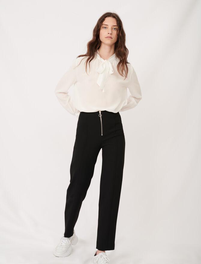 Pantalón recto de poliéster reciclado - Pantalones y Jeans - MAJE
