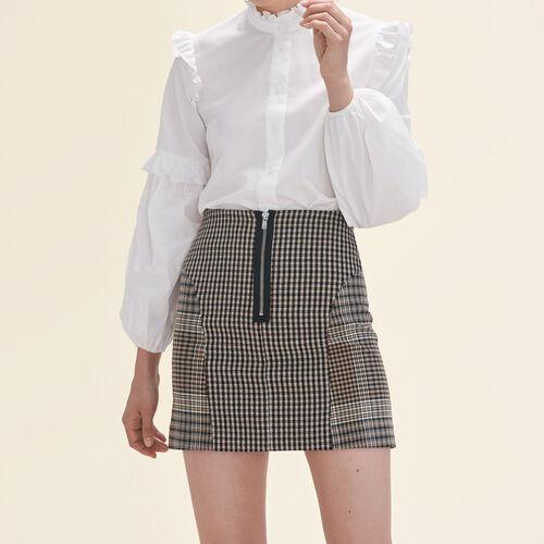 Falda a cuadros : Faldas y shorts color Jacquard