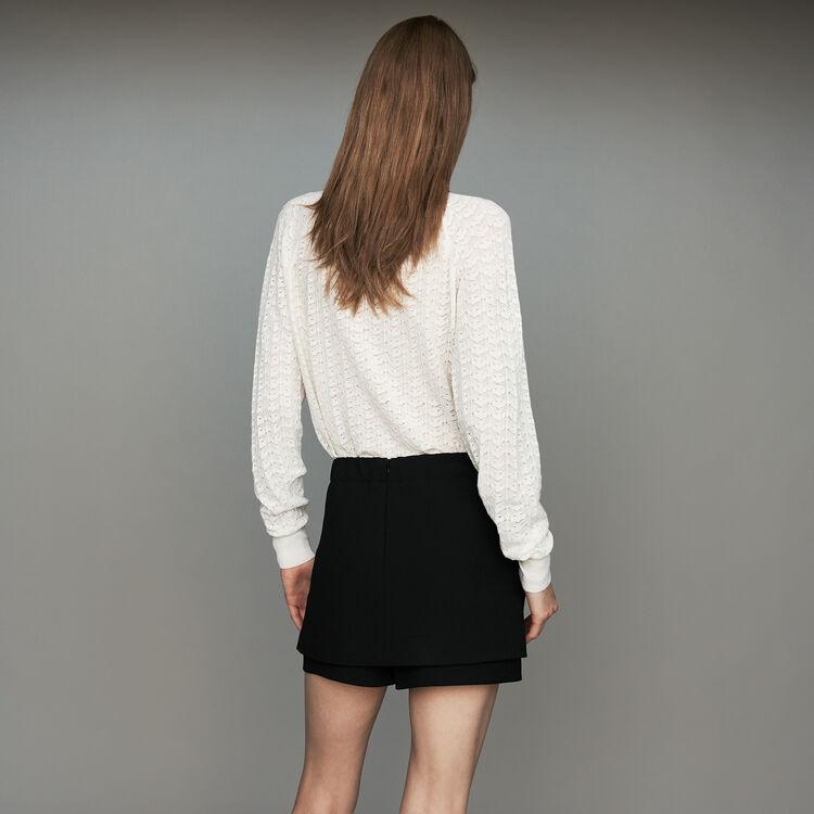 Short 2 en 1 de crepé : Faldas y shorts color Negro