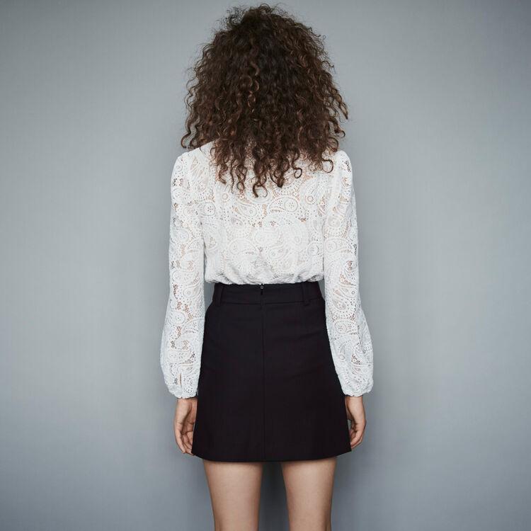 Falda de crepé con botones a contraste : Faldas y shorts color Negro