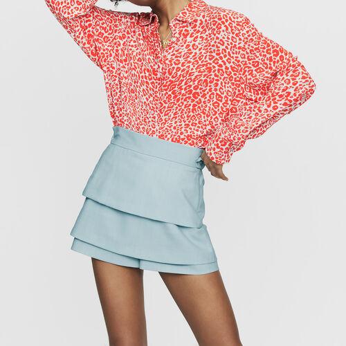 "Short ""trompe-l'oeil"" : Faldas y shorts color Azul Celeste"