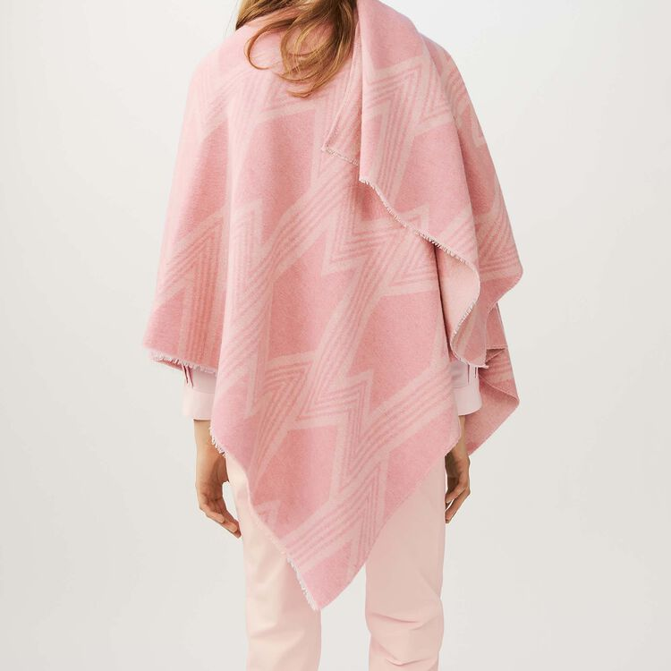 Poncho estampado M : Ver todo color Rosa