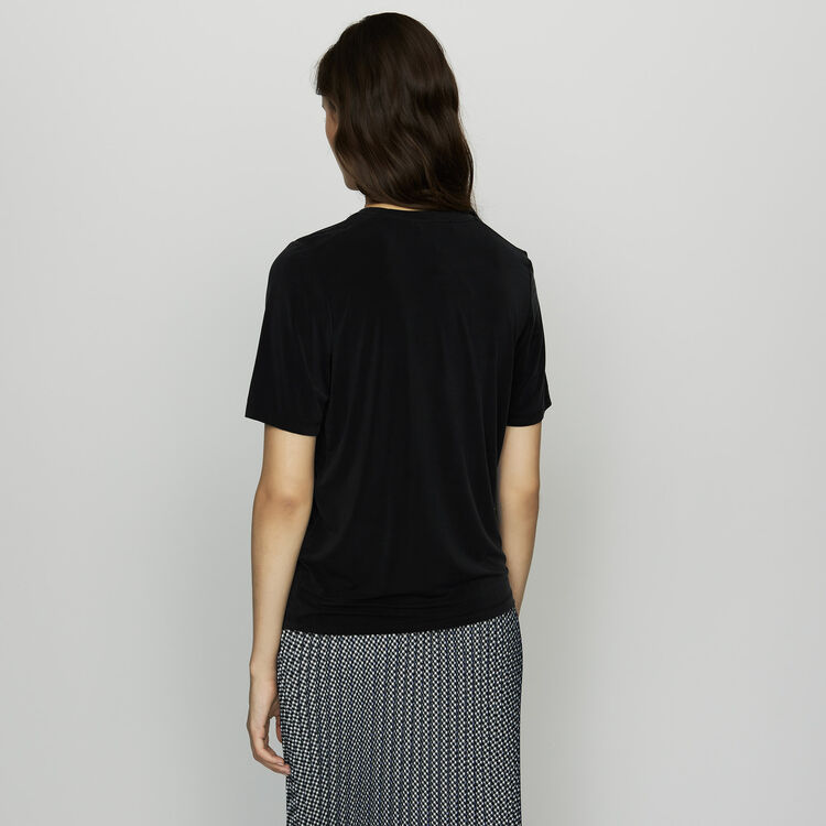 Camiseta de cupro : SoldesUK-All color Negro