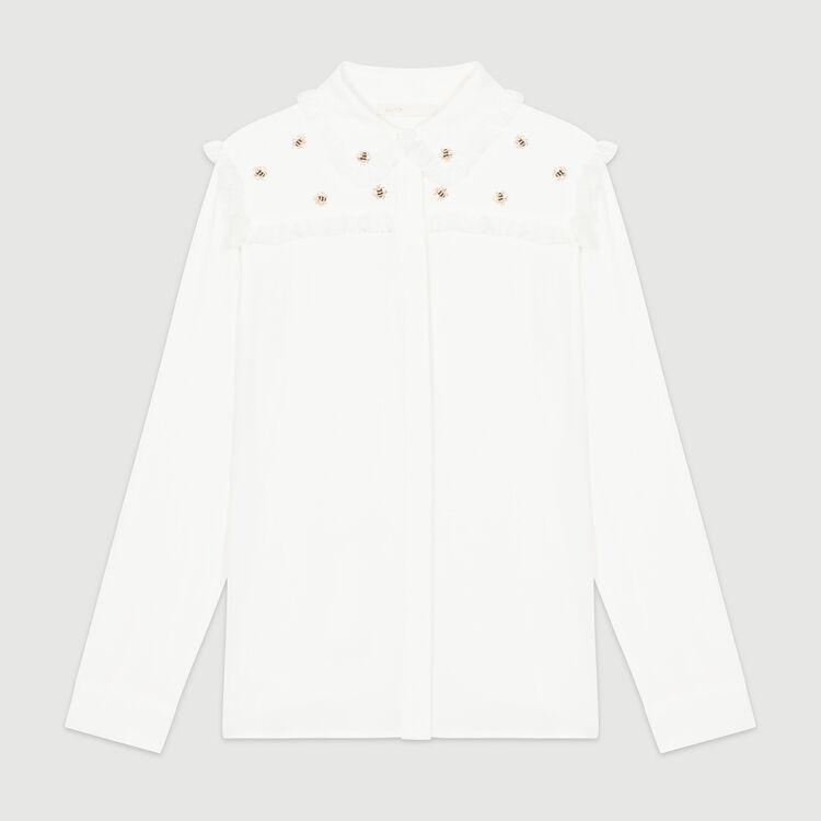 Camisa con abejas bordadas : Camisas color Blanco