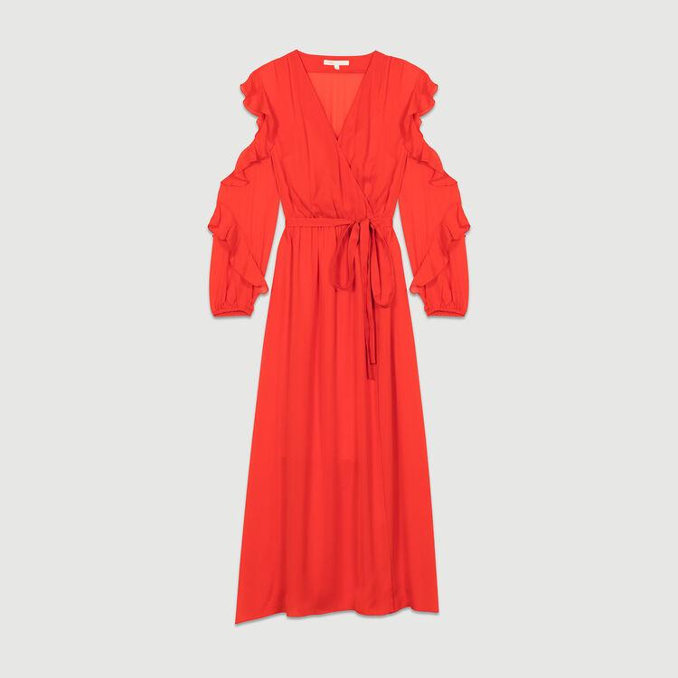 Vestido largo cruzado : Vestidos color ROUGE