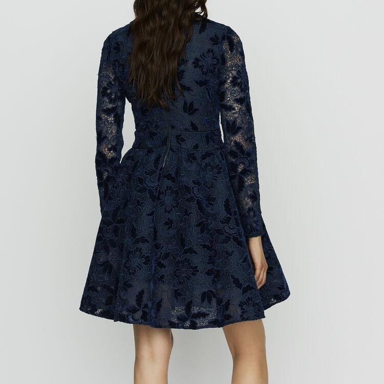 Velvet guipure dress : Vestidos color Azul Marino