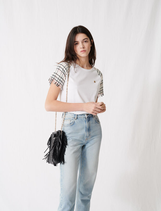 Camiseta de manga corta estilo tweed - T-Shirts - MAJE