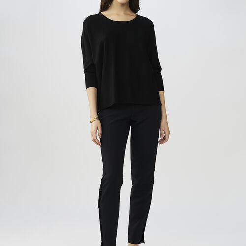 Jersey oversize de seda y cachemira : Malla color VERT