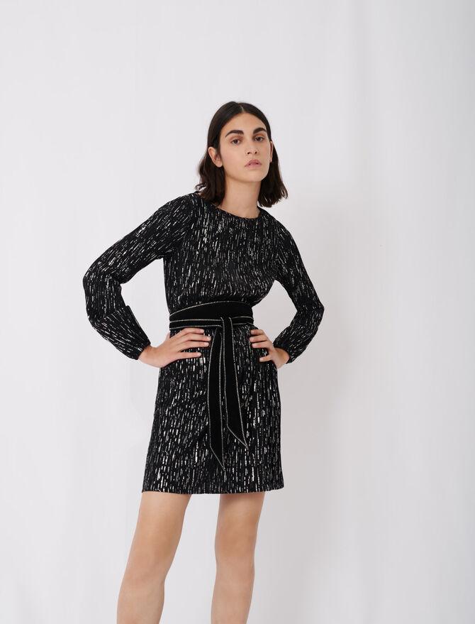 Vestido corto plisado - Nueva colección - MAJE