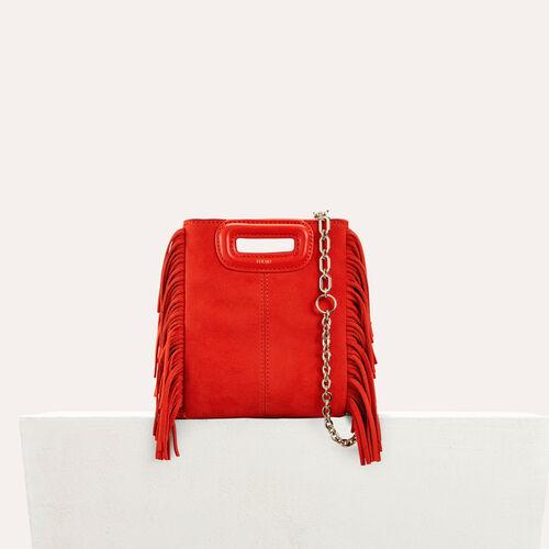M minibolso de ante con flecos : Nueva Colección color Rojo