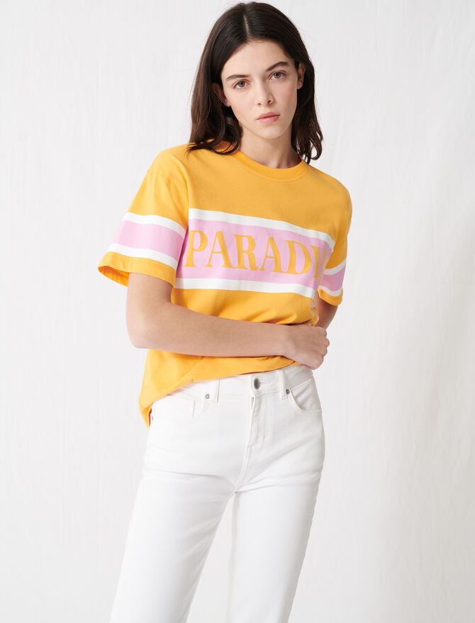 Camiseta serigrafiada «Paradise» - T-Shirts - MAJE