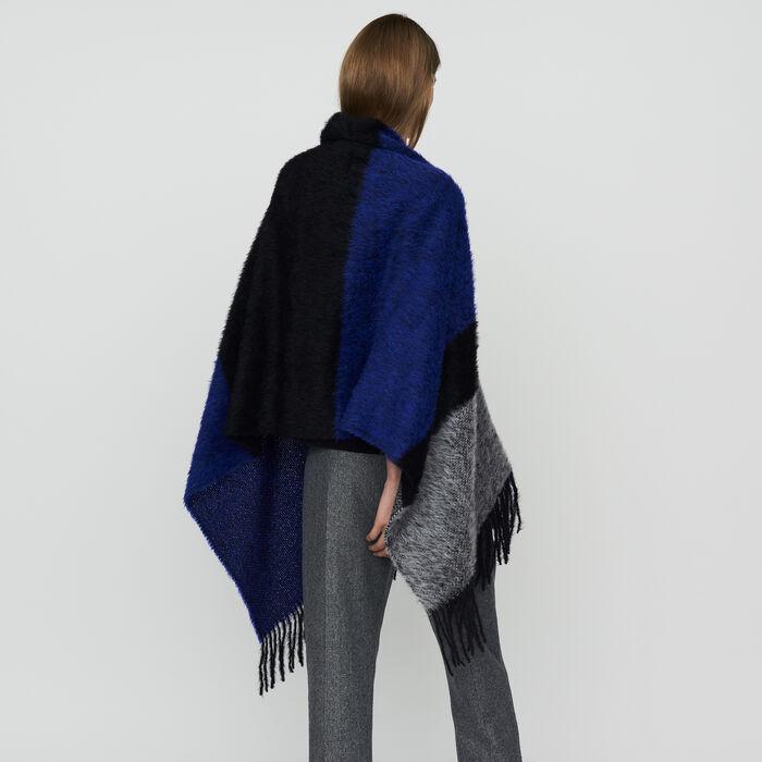 Echarpe en laine color block : Pañuelos & Ponchos color Violeta