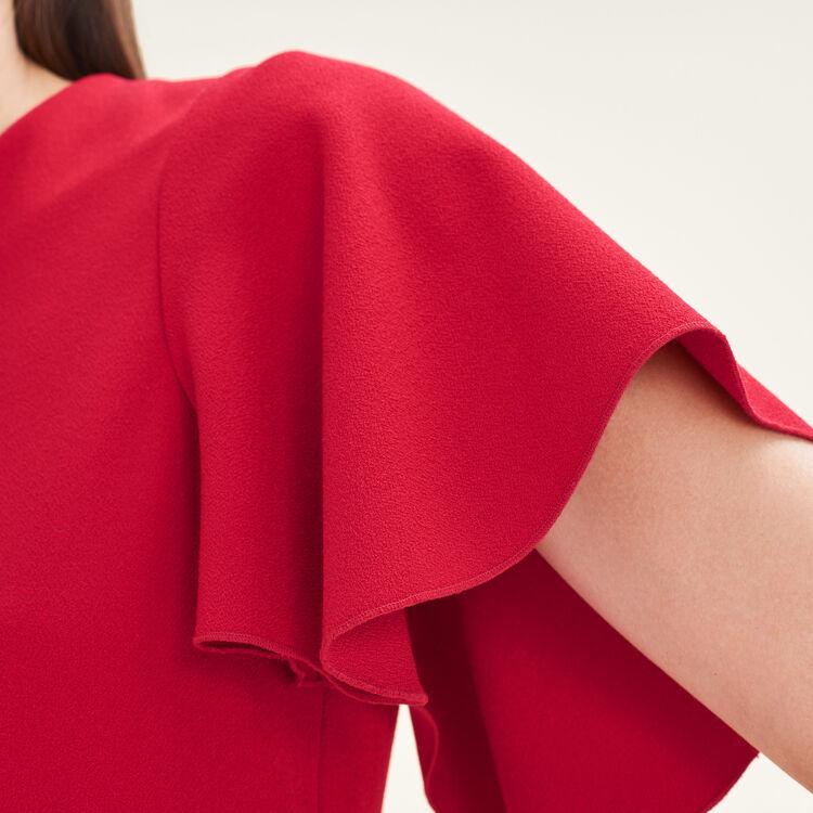 Vestido de mangas mariposa : Vestidos color Rojo