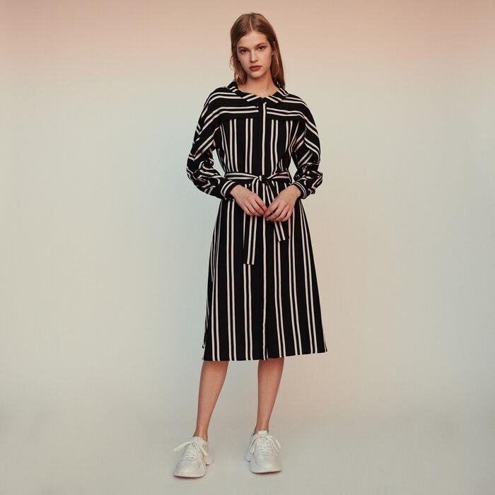 Vestido-camisero de rayas : Vestidos color Rayas